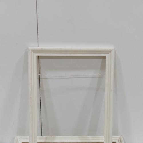Рама белая дерево для картины 33,5х23,7 см, толщ.1,2 см, шир.3 см, вн. 1.2 см лот 3шт №241 №242 №243