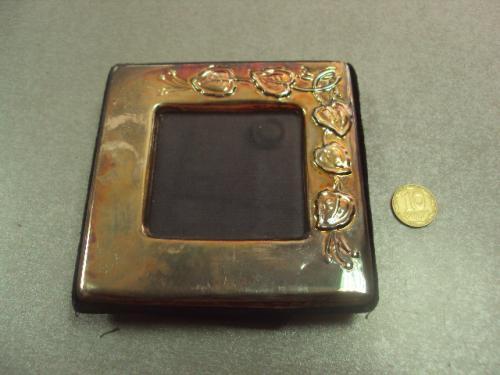 "рамка для фотографии листья серебро 925"" 9 х 8,8 см №380"