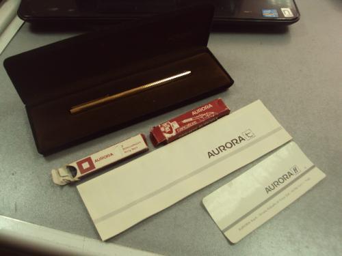 """ручка aurora vermeil в коробке с документами серебро 925"""" позолота №312"""