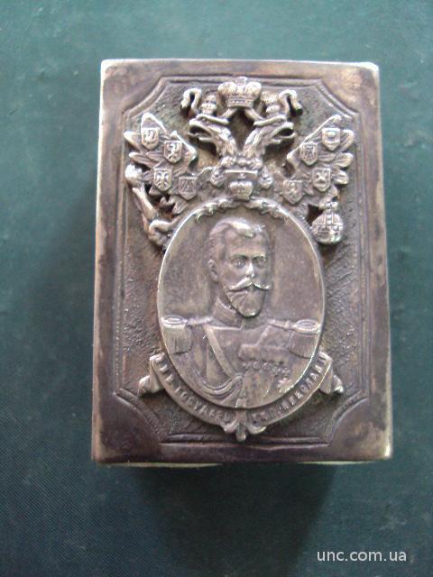 спичечница Николай второй серебро 49.32 г  925