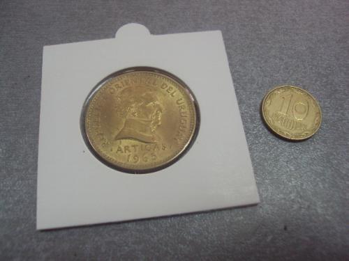 уругвай 10 песо 1965 сохран №548