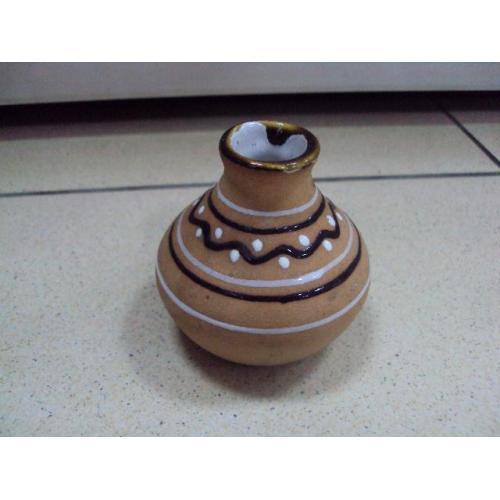 Ваза вазочка керамика высота 6,5 см №10924
