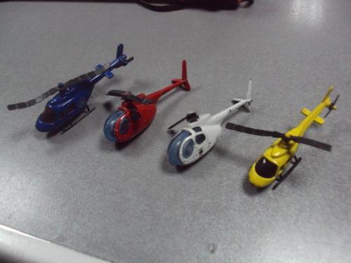 вертолет модель лот 4 шт №1172