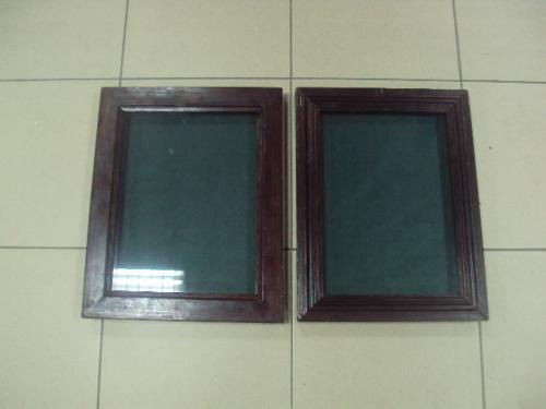 выставочный планшет со стеклом для знаков 39 х 31 см и 29,5 х 39 см лот 2 шт №2959