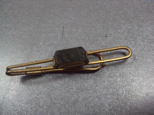Зажим для галстука минерал ссср позолота №10106