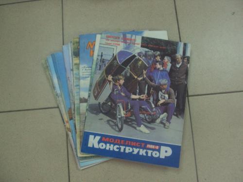 журнал моделист конструктор 1989-1991 модели автомобилей 1:43 лот 14 шт  №10884