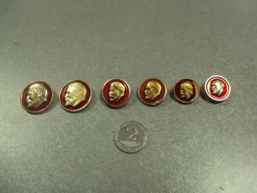 знак ленин круглый красный лот 10 шт №6801