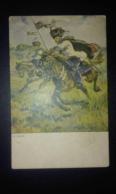 Открытка до 1917 г. Война. Подписная. Военная печать. Из армии.