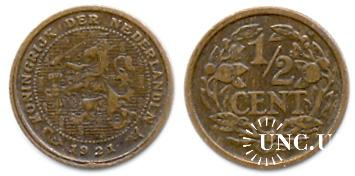 1/2 цента Ø14,0 мм. Cu, 1,25 г.
