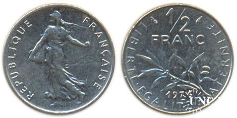 1/2 франка Ø19,5 мм. Ni, 4,50 г.