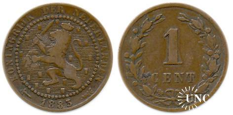 1 цент Ø19,0 мм. Bronze, 2,50 г.