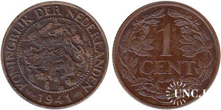 1 цент Ø19,0 мм. Cu, 2,50 г.