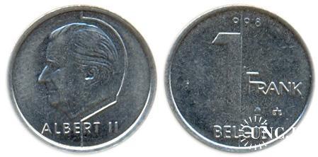 1 франк Ø17,0 мм. Fe/Ni, 2,75 г.
