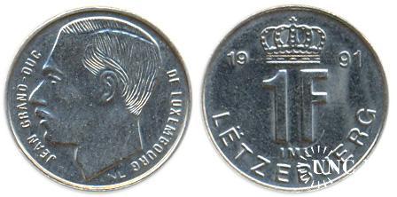 1 франк Ø18,1 мм. Fe/Ni, 2,80 г.