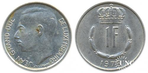 1 франк Ø21,0 мм. Cu-Ni, 3,89 г.