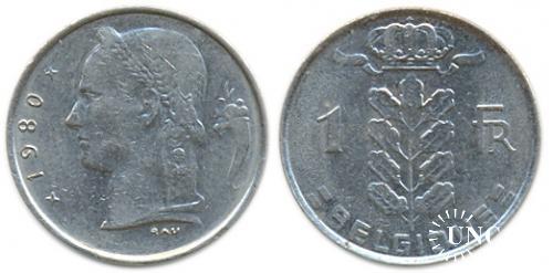 1 франк Ø21,0 мм. Cu-Ni, 4,00 г.