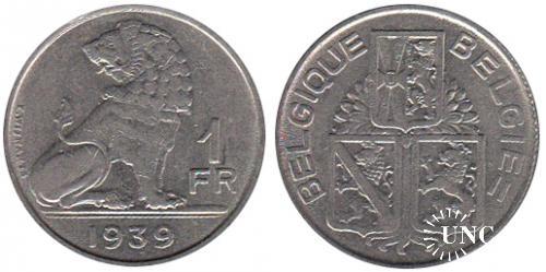 1 франк Ø21,5 мм. Ni, 4,5 г.