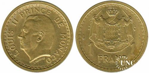 1 франк Ø22,9 мм. Al-Bronze, 4,0 г.