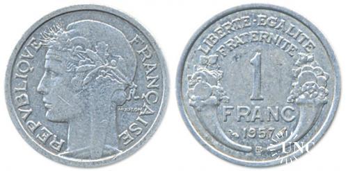 1 франк Ø23,0 мм. Al, 1,30 г.