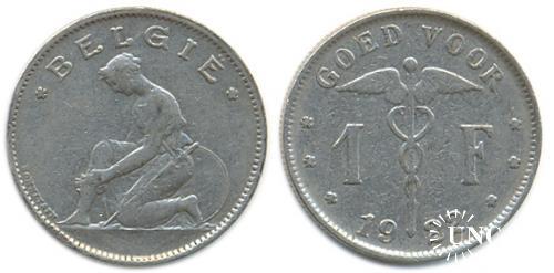 1 франк Ø23,0 мм. Ni, 5,0 г.