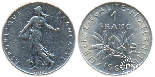 1 франк Ø24,0 мм. Ni, 6,00 г.