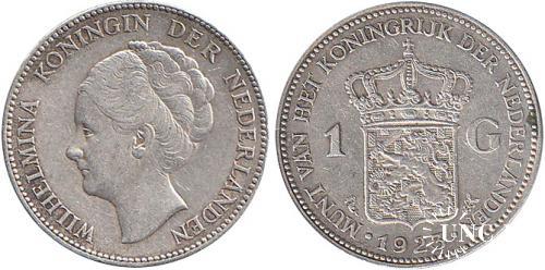 1 гульден Ø28,0 мм. Ag-720, 7,20 г.