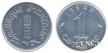 1 сантим Ø15,0 мм. Fe(Chrome), 1,65 г.
