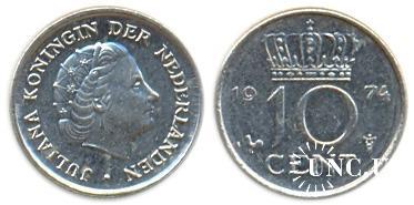 10 центів Ø15,0 мм. Ni, 1,50 г.