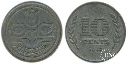 10 центов Ø22,0 мм. Zn, 3,30 г.