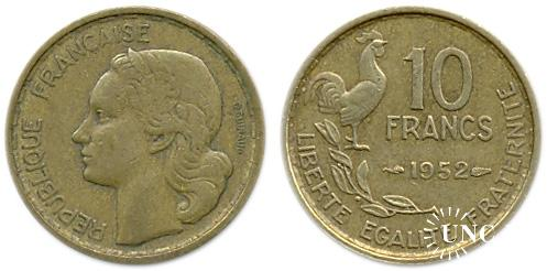 10 франков Ø20,0 мм. Al-Bronze, 3,00 г.