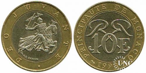 10 франков Ø23,0 мм. Bi-metalic