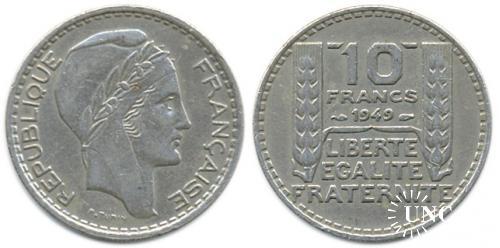 10 франков Ø26,0 мм. Cu-Ni, 7,00 г.