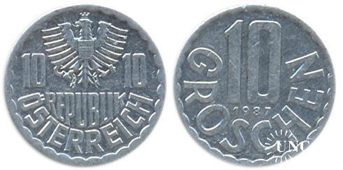 10 грошенів Ø20 мм. Al, 1,10 г.