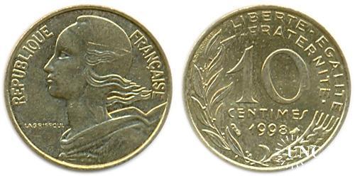 10 сантим Ø20,0 мм. Al-Bronze, 3,00 г.
