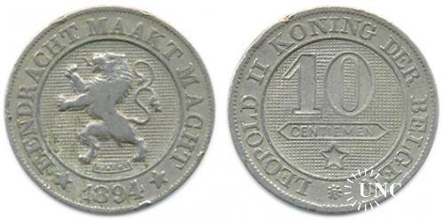 10 сантим Ø21,0 мм. Cu-Ni, 4,5 г.