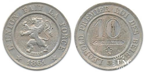 10 сантим Ø21,0 мм. Cu-Ni, 4,50 г.
