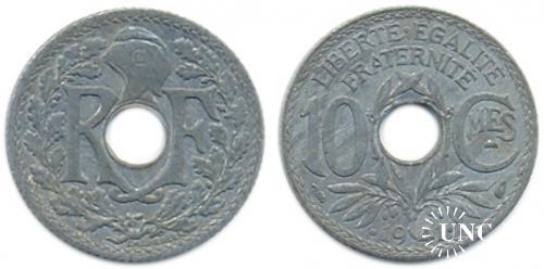 10 сантим Ø21,0 мм. Zn, 2,50 г.