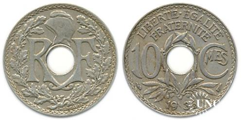10 сантим Ø21,3 мм. Cu-Ni, 4,00 г.
