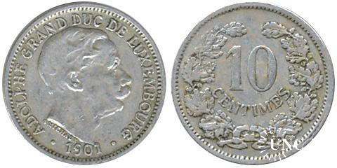 10 сантим Ø22,0 мм. Cu-Ni, 2,95 г.