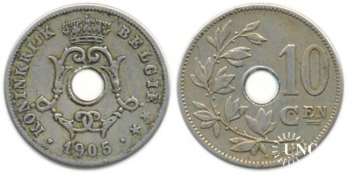10 сантим Ø22,0 мм. Cu-Ni-Zn, 4,00 г.