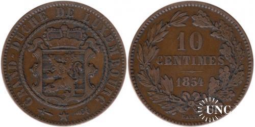 10 сантим Ø30,0 мм. Bronze, 10,0 г.