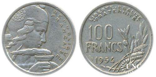 100 франков Ø24,0 мм. Cu-Ni, 6,00 г.