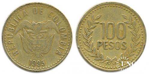 100 песо Ø23,0 мм. Brass, 5,3 г.