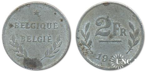 2 франка Ø19,0 мм. Zn, 2,75 г.