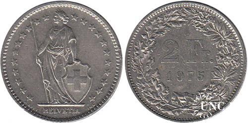 2 франка Ø23,0 мм. Cu-Ni, 4,40 г.