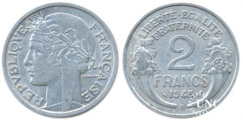 2 франка Ø27,0 мм. Al, 2,20 г.