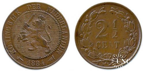 2 и 1/2 цента Ø23,5 мм. Cu, 4,00 г.