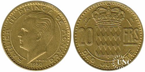 20 франков Ø23,5 мм. Al-Bronze