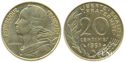 20 сантим Ø23,5 мм. Al-Bronze, 4,00 г.