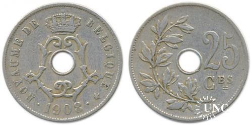 25 сантим Ø26,0 мм. Cu-Ni-Zn, 6,5 г.